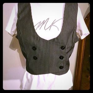 NWOT Tuxedo Double Breasted Vest Fall Ready! Sz XL